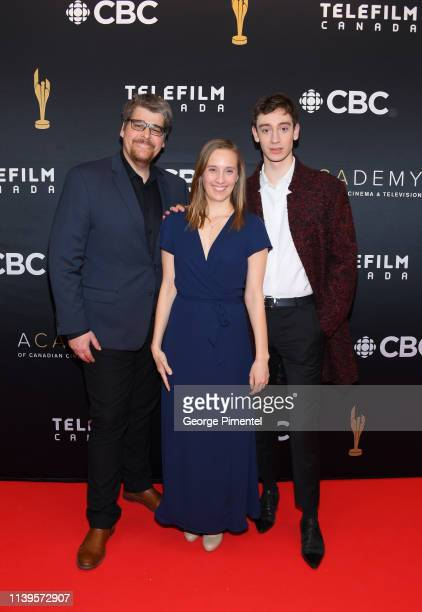 Etienne Hansez Sophie Dupuis and Theodore Pellerin attends the 2019 Canadian Screen Awards Broadcast Gala at Sony Centre for the Performing Arts on...