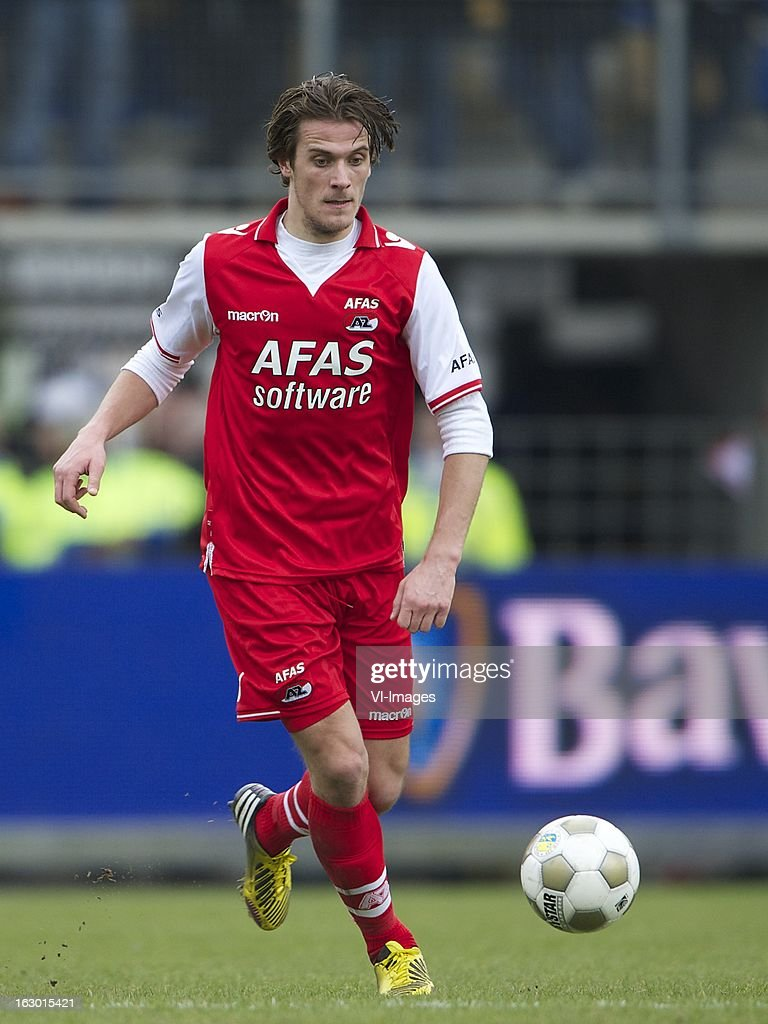 Etienne Reijnen of AZ during the Dutch Eredivisie match between RKC Waalwijk and AZ Alkmaar at the Mandemakers Stadiumon march 03, 2013 in Waalwijk, The Netherlands
