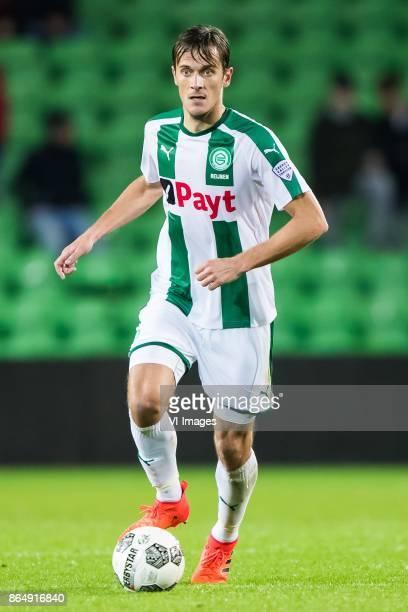 Etienne Reijnen of FC Groningen during the Dutch Eredivisie match between FC Groningen and Willem II Tilburg at Noordlease stadium on October 20 2017...