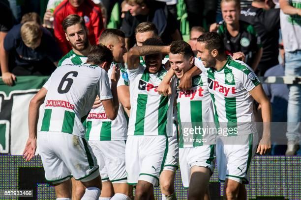 Etienne Reijnen of FC Groningen Lars Veldwijk of FC Groningen Jesper Drost of FC Groningen Mike te Wierik of FC Groningen Juninho Bacuna of FC...
