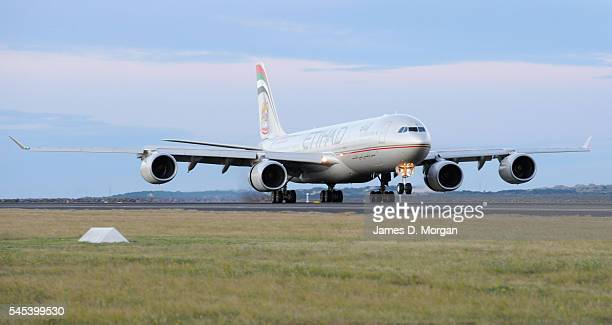 Etihad airlines airbus A340 aircraft on July 17 2009 in Sydney Australia
