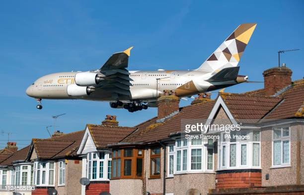 A Etihad Airways Airbus A380 plane comes into land at Heathrow Airport from Abu Dhabi Airbus has announced it will cease deliveries of its flagship...