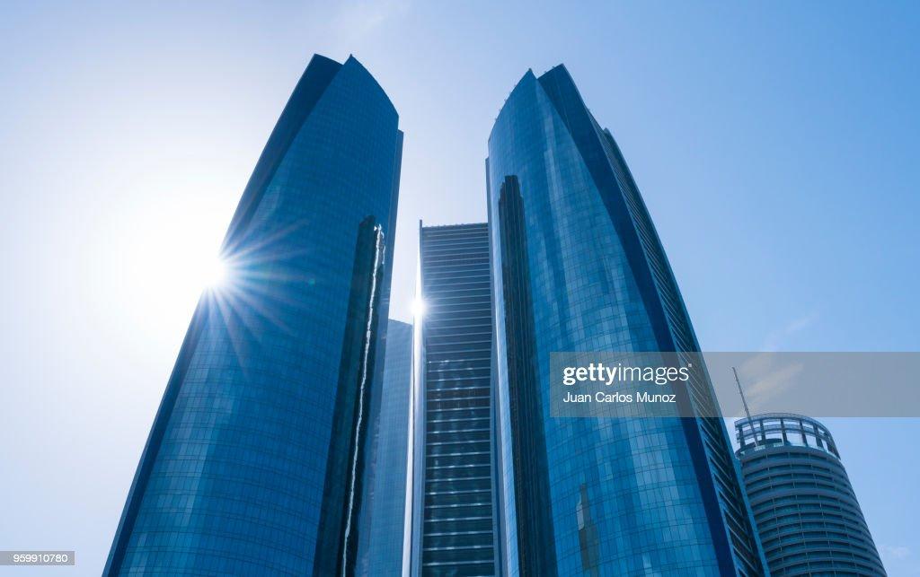 Etihad Towers, Abu Dhabi City, Emirate of Abu Dhabi, Persian Gulf, United Arab Emirates, UAE, The Middle East : Stock-Foto