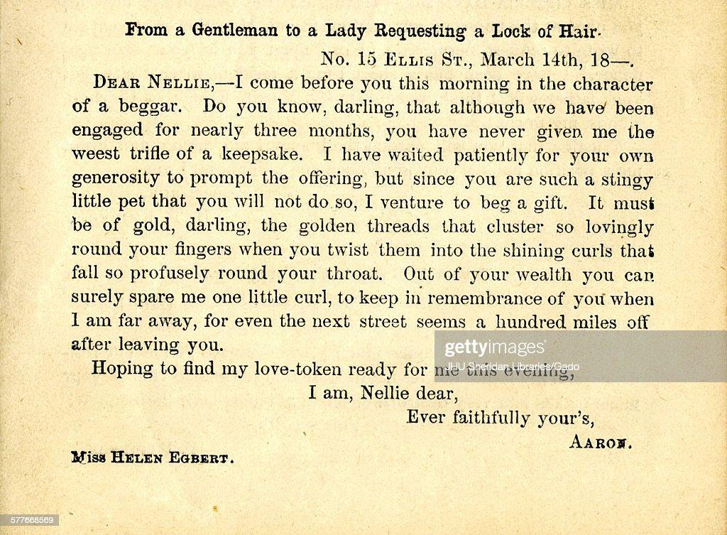 ladies and gentlemen letter