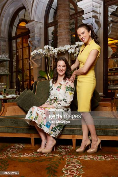 Etiquette expert Myka Meier and journalist Sophia Money Coutts are photographed for Daily Mail on March 23 2018 at the Plaza Hotel in New York City