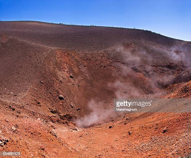 Etna, a crater of the volcano