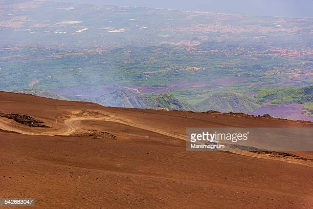 Etna, driving on the volcano slopes