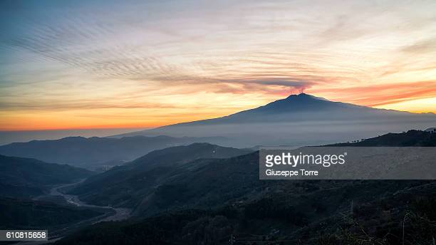 etna sunset - mt etna stock pictures, royalty-free photos & images