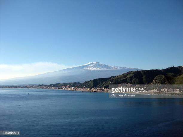 Etna's view from Taormina