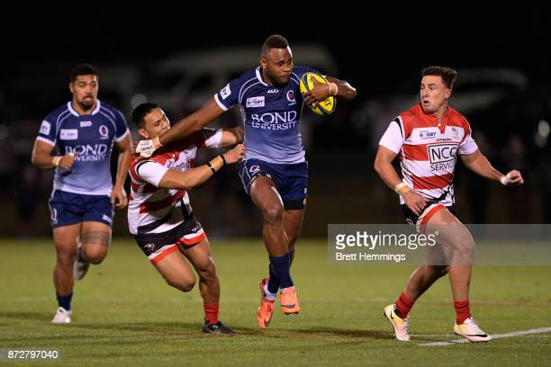 Eto Nabuli of Queensland makes a break during the NRC Grand Final match between Canberra and Queensland Country at Viking Park on November 11 2017 in...