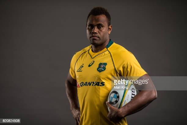 Eto Nabuli poses for a headshot during the Australian Wallabies Player Camp at the AIS on April 9 2017 in Canberra Australia