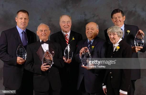 ETOBICOKE_sportsOctober 28 2004 Etobicoke Sports Hall of Fame inductees Dave Reid Frank Selke Jr Red Kelly Jack and Lynne Dominico and Frank Orr at...