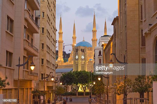 etoile square and mosque al amin - beirut stock pictures, royalty-free photos & images
