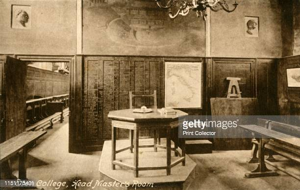 Eton College Head Master's Room' late 19thearly 20th century Interior at Eton College near Windsor in Berkshire The school was founded in 1440 by...