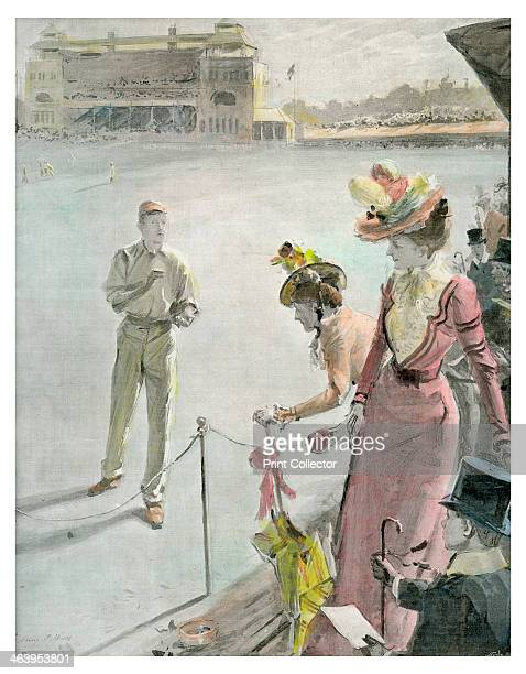 'Eton v Harrow at Lord's: A Boundary Hit', late 19th or early 20th century.