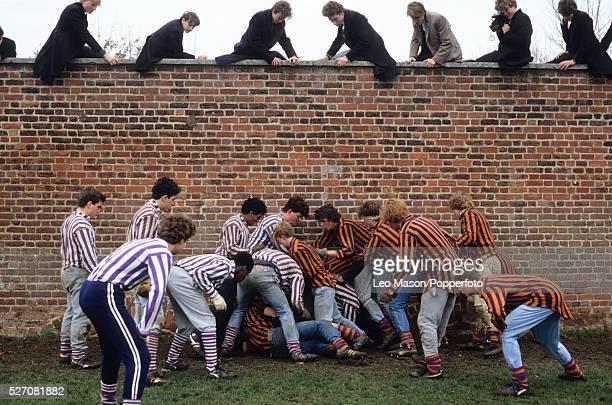 Eton Wall Game at Eton College in Eton England United Kingdom