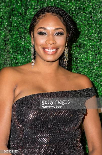 Etra Elise attends the 3rd Annual Griot Gala Oscars After Party 2020 Hosted By Michael K. Williams at Ocean Prime on February 09, 2020 in Beverly...