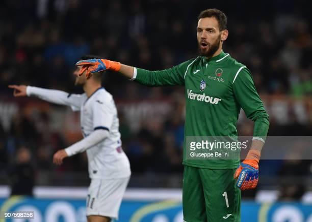 Etrit Berisha of Atalanta BC in action during during the serie A match between AS Roma and Atalanta BC at Stadio Olimpico on January 6 2018 in Rome...