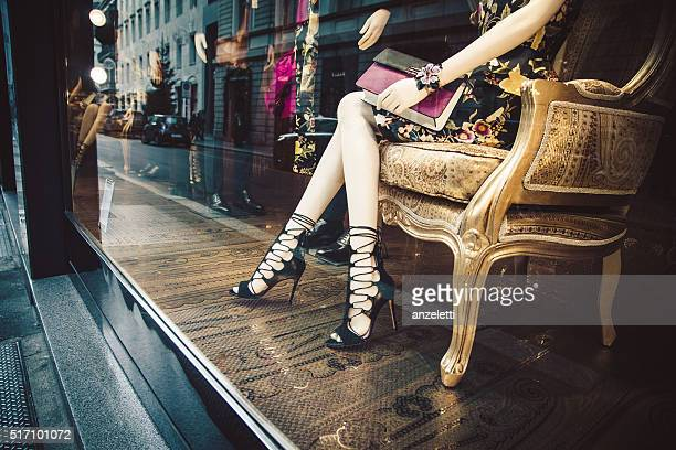 etro shop in via monte napoleone, milan - haute couture stock pictures, royalty-free photos & images
