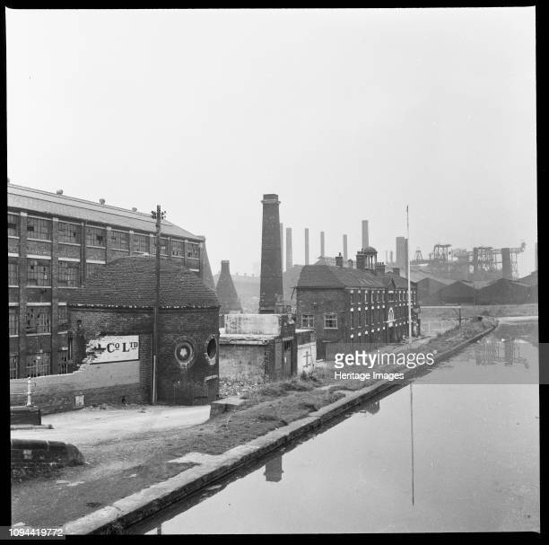 Etruria Pottery Works, Stoke-on-Trent, Staffordshire, 1965-1968. Josiah Wedgwood's Etruria Pottery Works during demolition, viewed from Etruria...