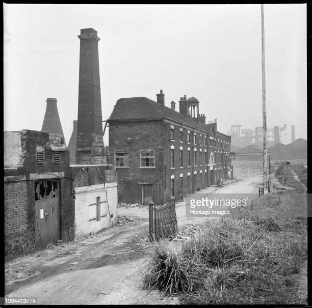 Etruria Pottery Works, Stoke-on-Trent, Staffordshire, 1965-1968. The derelict remains of Josiah Wedgwood's Etruria Pottery Works seen part way...