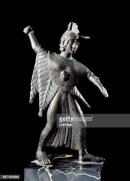bronze statuette of the goddess Minerva from Catona near Arezzo 500475 BC 215 cm Estense museum collection of the Dukes of Estensi Modena Italy