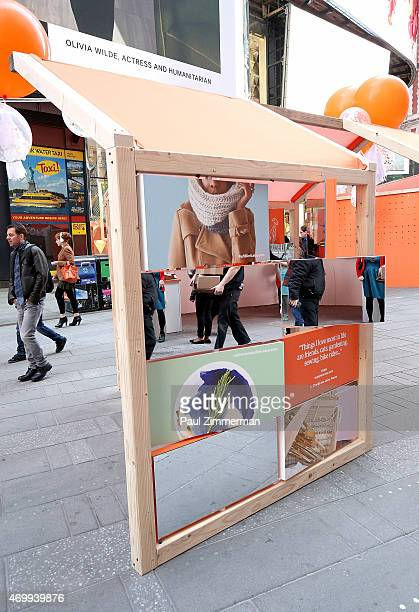 Etsy Sellers Market in Times Square celebrating Etsy's celebration going IPO at Nasdaq on April 16 2015 in New York City