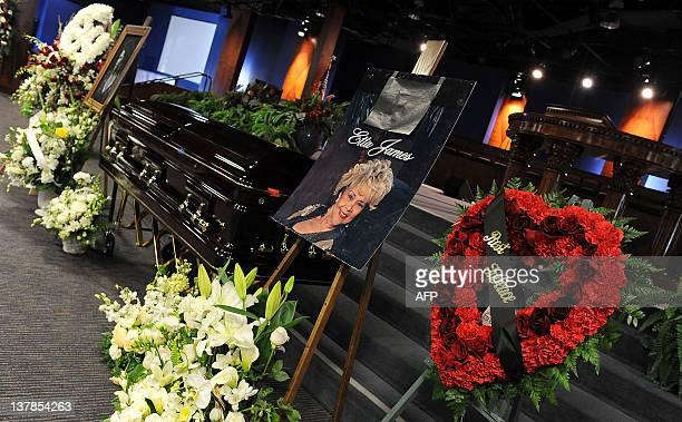 Etta James' funeral In Gardena California on January 28 2012 AFP PHOTO/VALERIE MACON