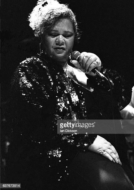 Etta James performing on stage at Town Country Club Kentish Town London 26 July 1989