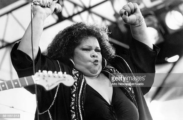 Etta James singer and songwriter performing on stage 1960
