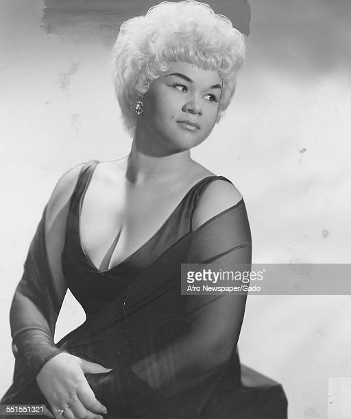 Etta James singer and songwriter seated in an elegant pose early in her career March 10 1962