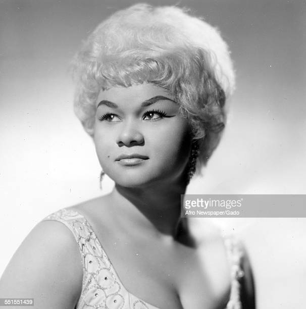 Etta James the singer and songwriter a portrait of her with blonde hair January 21 1963