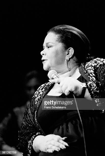 Etta James vocals performs during Heineken Jazz on October 22nd 1992 at the Doelen in Rotterdam Netherlands