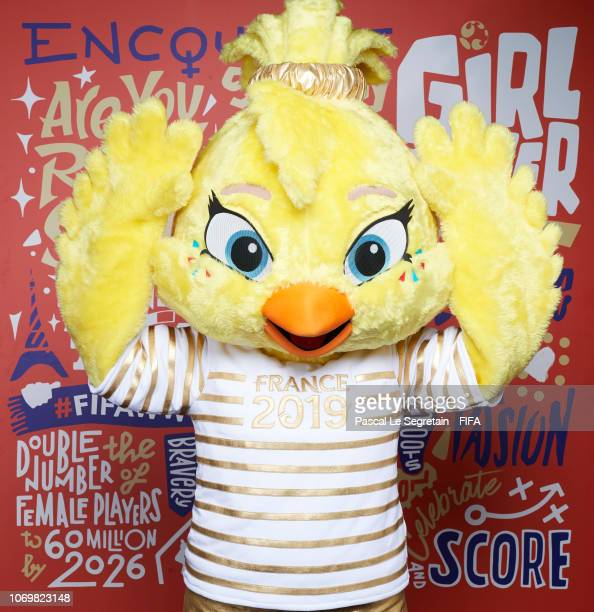Ettie, The Official Mascot for the FIFA Women's World Cup France 2019 poses for a portrait during the FIFA Women's World Cup France 2019 Draw at La...