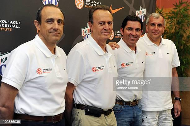 Ettore Messina Head Coach of Real Madrid Aito Garcia Reneses Head Coach of Unicaja Xavi Pascual Head Coach of Regal FC Barcelona and Zeljko Obradovic...