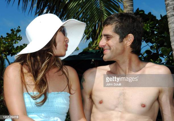 Etty Farrell and Perry Farrell during Kelly Slater Invitational Fiji Day 4 Celebrity ProAm Presented by Quiksilver at Restaurants in Tavarua Island...