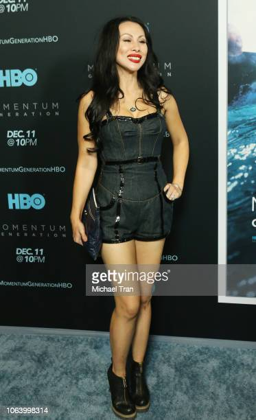 Etty Lau Farrell attends HBO's Momentum Generation premiere held at The Broad Stage on November 05 2018 in Santa Monica California