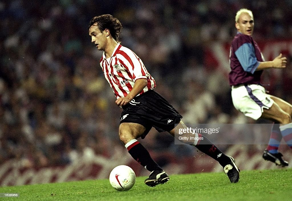 Etxeberria of Athletico Bilbao in action during the UEFA Cup match against Aston Villa in Bilbao, Spain. \ Mandatory Credit: Allsport UK /Allsport