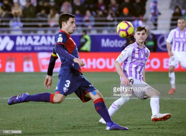 Etxeita of SD Huesca during the La Liga match between SD Huesca and Valladolid at El Alcoraz on February 1 2019 in Huesca Spain