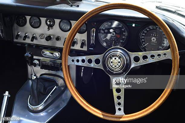 e-type jaguar, u.k. - jaguar e type stock photos and pictures