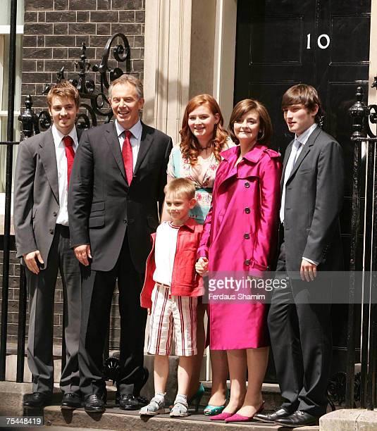 Euan Blair Tony Blair Leo Blair Kathryn Blair wife Cherie Blair and Nicholas Blair