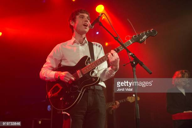Euan Hinshelwood of Younghusband performs on stage during Burguer Invasion Festival at Sala Apolo on February 17 2018 in Barcelona Spain