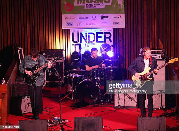 Euan Hinshelwood Pete Baker and Joe Chilton of Younghusband perform onstage at Under the Radar during the 2016 SXSW Music Film Interactive Festival...