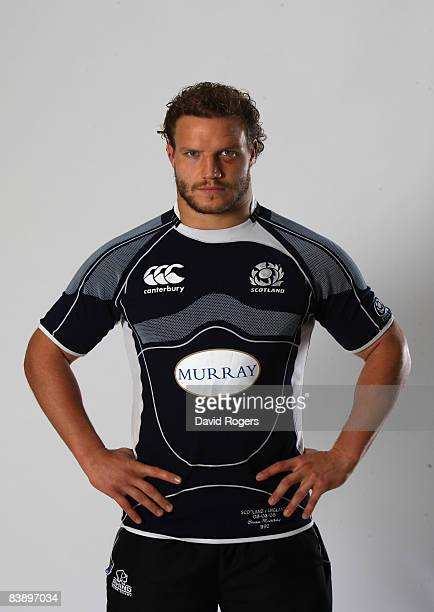 Euan Murray the Northampton Saints and Scotland prop poses during a photo session held at Franklin's Gardens on October 7 2008 in Northampton England