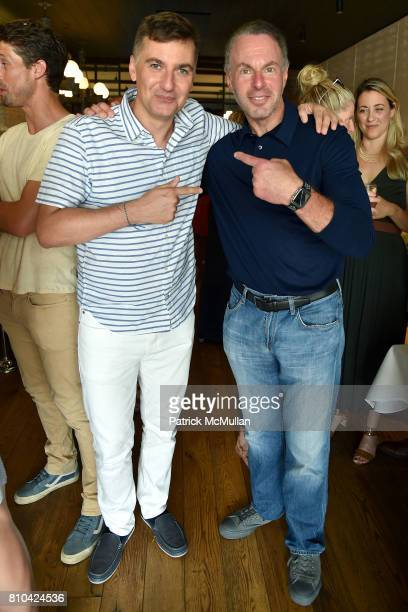 Euan Rellie and Devin Wenig attend eBay Hosts July 4th Benefit for Sag Harbor Cinema Restoration Project at Lulu Kitchen and Bar on July 3 2017 in...