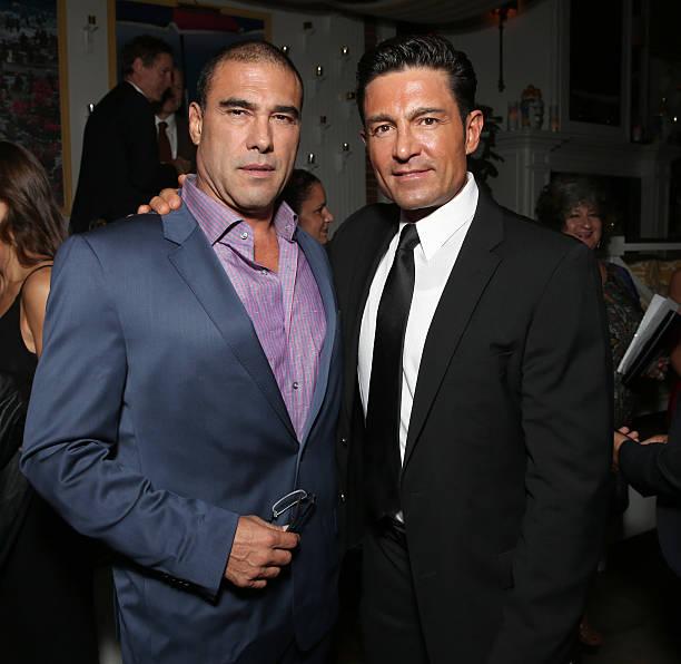 Euardo Yanez and Fernando Colunga attend the after party for Pantelion Films'