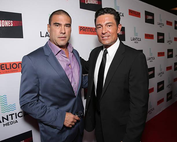 Euardo Yanez and Fernando Colunga attend the Pantelion Films'