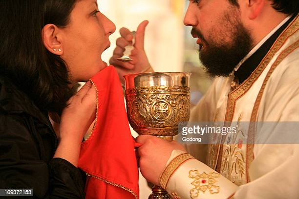 Eucharist in Greek orthodox church