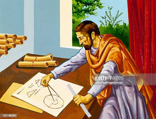 Euclid , Greek mathematician, founder of the School of Alexandria.