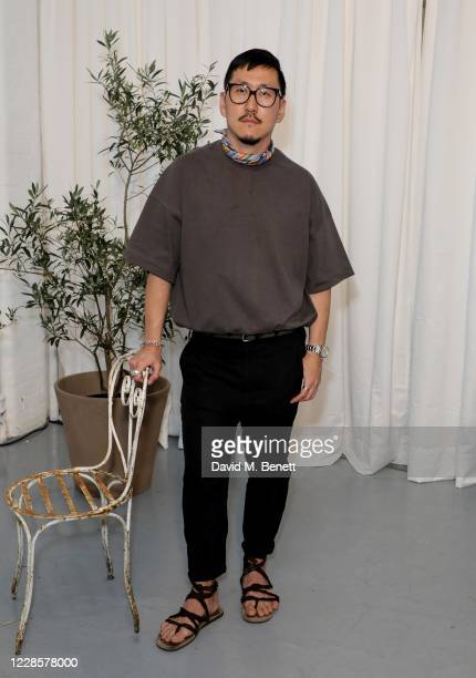 Eudon Choi attends the Eudon Choi salon shows during London Fashion Week September 2020 at Noho Studios on September 18, 2020 in London, England.